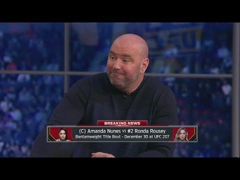UFC ON FOX: Dana White talks Ronda Rousey's return, whether or not she'll ever fight Cyborg - 'UFC Tonight'