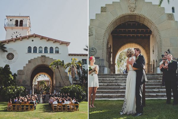 santa barbara wedding  http://www.refinery29.com/100-layer-cake/13#slide11     Ceremony Venue: Santa Barbara courthouse.