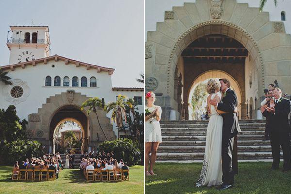 santa barbara wedding  http://www.refinery29.com/100-layer-cake/13#slide11     Ceremony Venue: Santa Barbara courthouse.