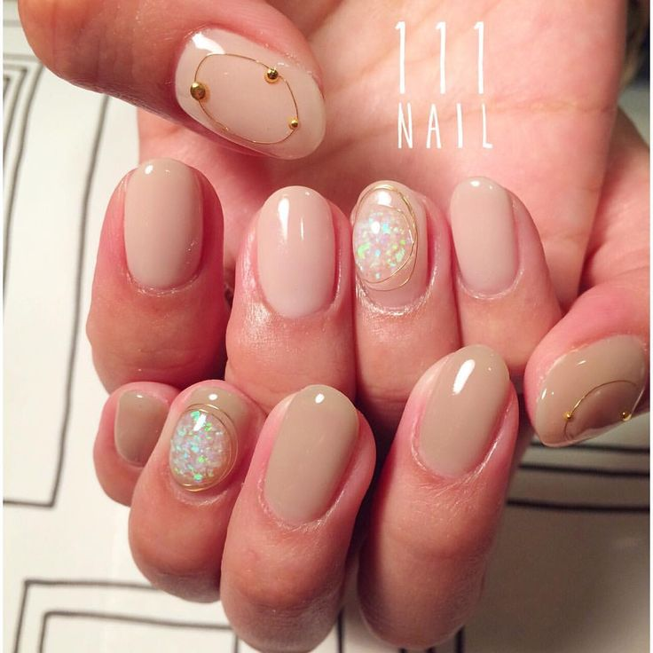 opal◽️▫️◻️ #nail#art#nailart#ネイル#ネイルアート#opal#nudie#beige#ワイヤーネイル#ショートネイル#シンプル111#ネイルサロン#nailsalon#表参道#ワイヤーネイル111
