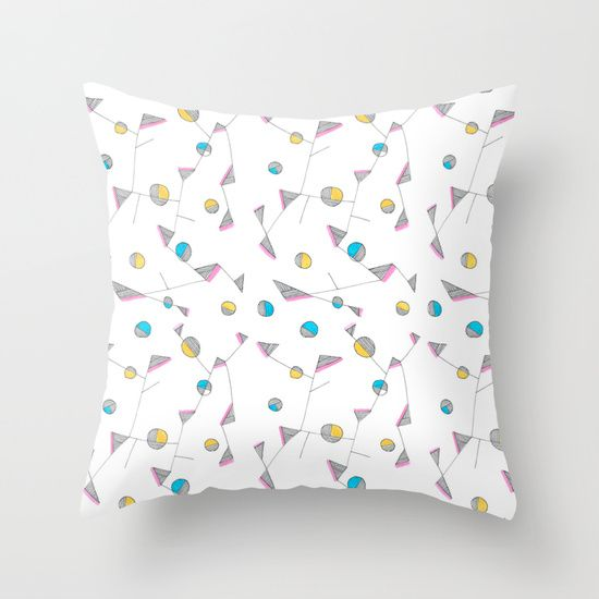Abstract Objekt Throw Pillow