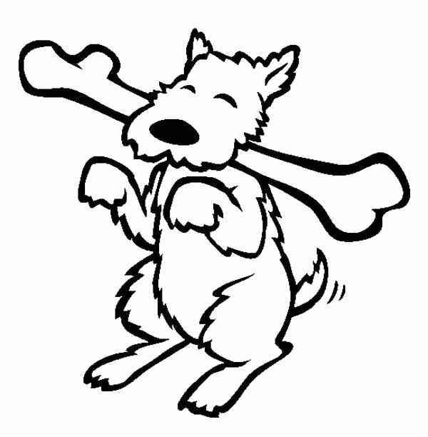 Dog Bone Coloring Page Awesome Dog Bone Drawing At Getdrawings