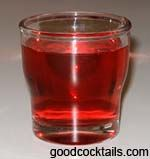 ROYAL FUCK  1 oz. Crown Royal® Canadian Whisky  1 oz. Peach Schnapps  1 oz. Cranberry Juice