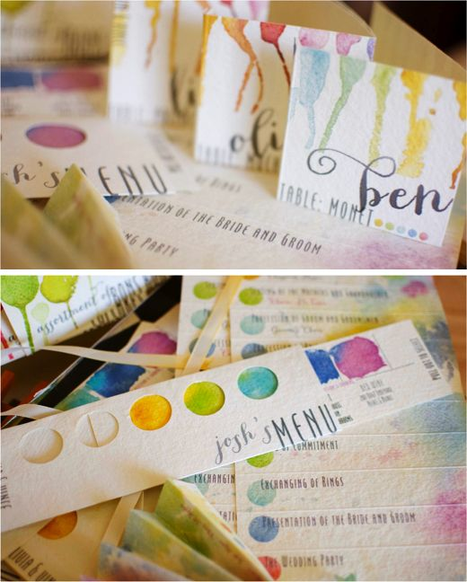 Omg, LOVE the artists table names idea. SO doing this if we end up being able to have it at the art museum after all.