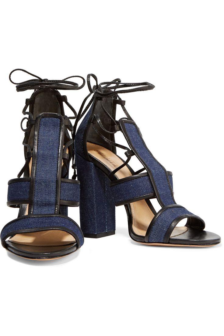 Maxine lace-up denim sandals | Schutz | HK | THE OUTNET