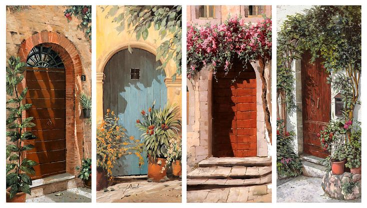 Doors Painting - Quattro Porte by Guido Borelli