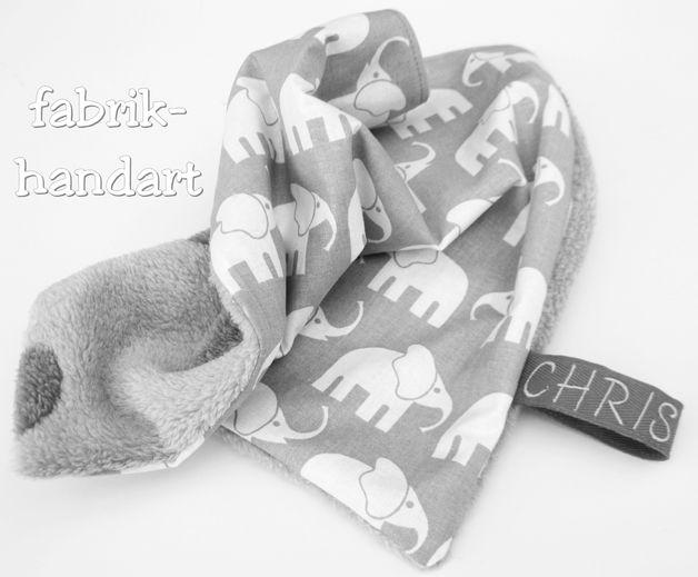 Schmusetücher - Sabbertuch, Schmusetuch, Schlaftuch - ein Designerstück von fabrik-handart bei DaWanda