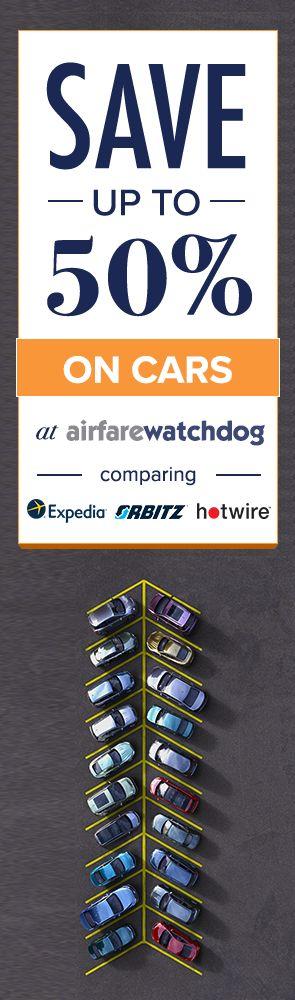 Save up to 50% on Car Rentals when comparing dozens of sites on AirfareWatchDog!