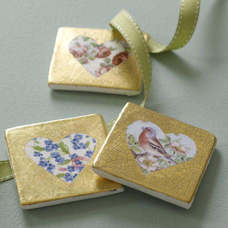 Elegant Ceramic Heart Tile