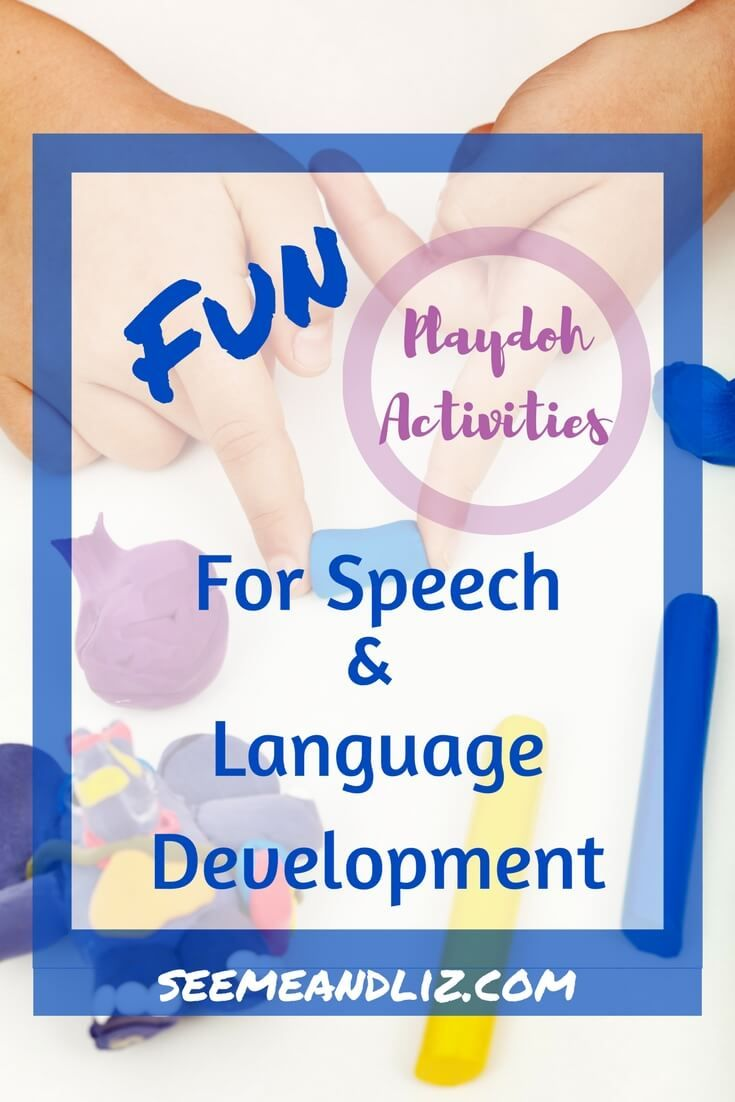 Fun Playdoh Activities for Toddlers & Preschoolers.  These are great for open ended play based learning with a focus on speech-language development.