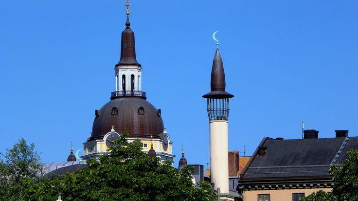 Katarina church and Stockholm mosque