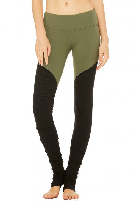 Goddess Ribbed Legging 2 | Women's Bottoms at ALO Yoga