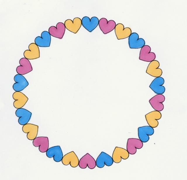 Free Printable Frames for Scrapbooks and Card Making Projects: Heart Frame