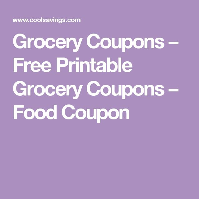 Grocery Coupons – Free Printable Grocery Coupons – Food Coupon
