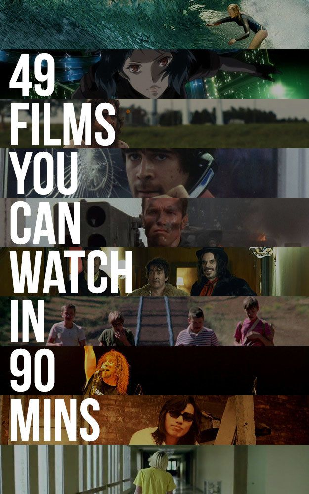 Shortish films, from Stand By Me to The Shallows.