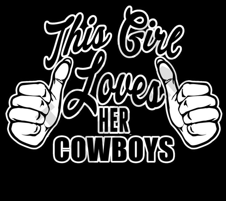 This Girl Loves Her Cowboys - PNG T-shirt design by MugsAndAccessories on Etsy
