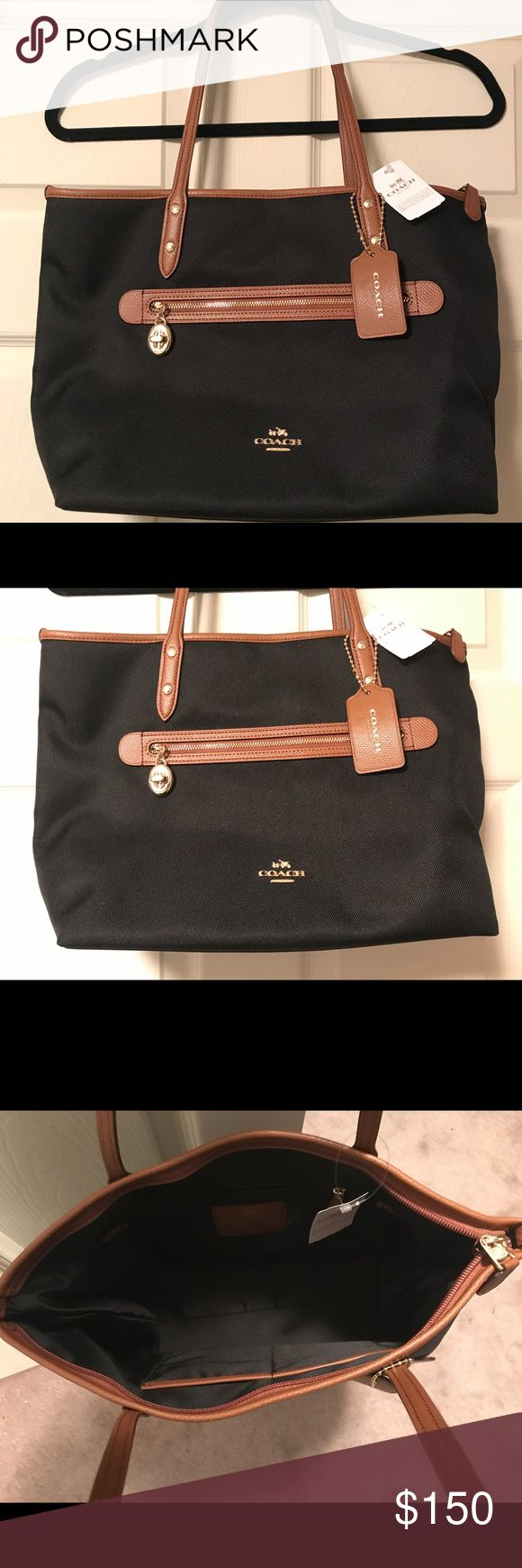 "❤️❤️BNWT Sawyer Coach Tote Bag ❤️❤️ ❤️❤️BNWT Sawyer Coach Tote Bag ❤️❤️ Polyester twill, inside zip, cell phone and multifunction pockets, zip closure, satin lining, handles with 10"" drop. Bags Totes"