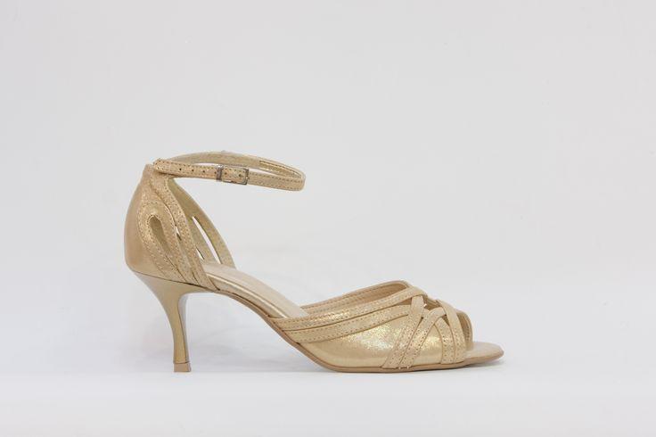 společenská obuv, večerní obuv, obuv do tanečních, kožený svršek i stélka, pásek okolo kotníku, podpatek 5 cm, v obchodě Střevíce a více,