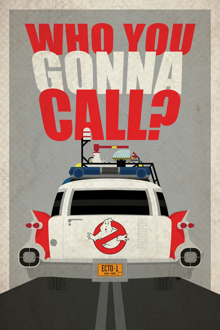 GHOSTBUSTERS ECTO1 POSTER by PlacesAndFilms on Etsy, €15.00