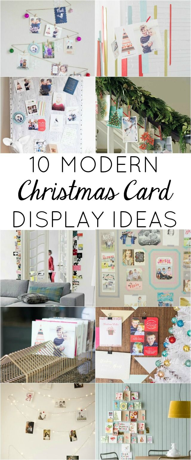 10 Modern Ways to Display Your Christmas Cards!