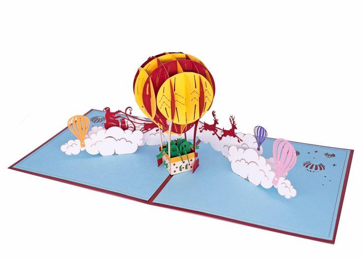 AITpop Fire Balloon (Christmas) pop up card