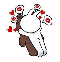 Cony caiu em Brown e beijá-lo