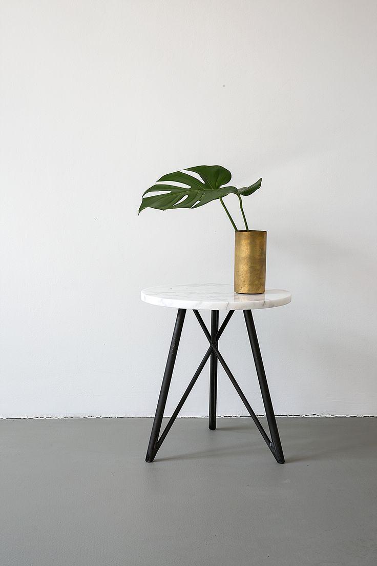 Steel Side Table by NUTSANDWOODS