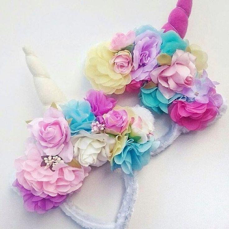 """Restock coming just in time for Christmas #unicorn #headband #flowercrown #thegiftforthatsomeonewhohaseverything"""