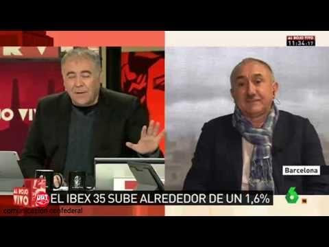 SECCIO SINDICAL UGT SECURITAS CATALUNYA: Entrevista a Pepe Álvarez en Al Rojo Vivo