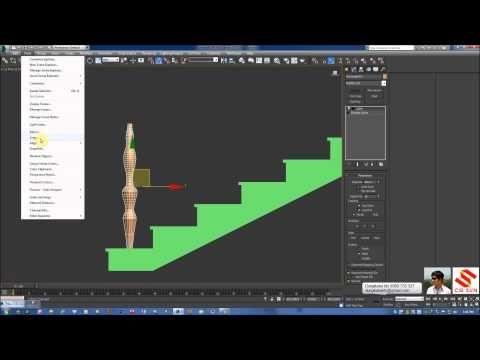 3Dsmax cơ bản - dựng Thang 2 vế trong 3dsmax (dùng spline - 2d) - YouTube