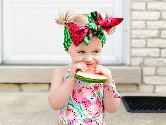 Reversibili estate anguria testa avvolgere frutta Headwrap