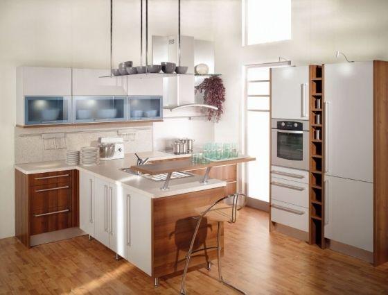 Kleine Küchenmöbel Minimalismus In Der Küche Hochglanz Optik
