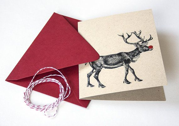 Rudolf The Rednosed Reindeer Holiday Greeting by DanielleSayer, $4.00