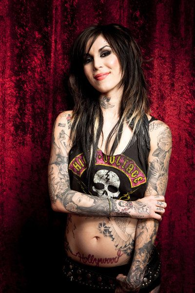 Kat Von D from LA ink. I'm obbsessed with this show right now. It'd be an honor to be tattooed by her!