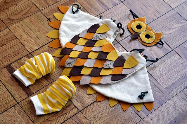 Owl Costume-- I'm pretty sure one of my kids should be an owl this year. :)