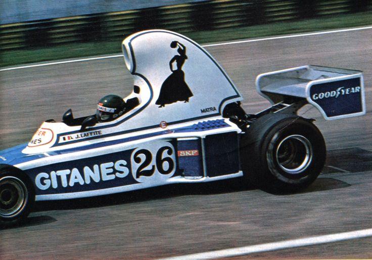 Jacques Laffite (Ligier-Matra) Grand Prix du Brésil - Interlagos 1976 - L'Automobile mars 1976.
