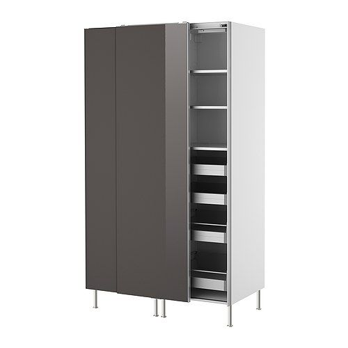 Attractive FAKTUM High Cabinet With Sliding Doors   Abstrakt Grey   IKEA Pictures Gallery