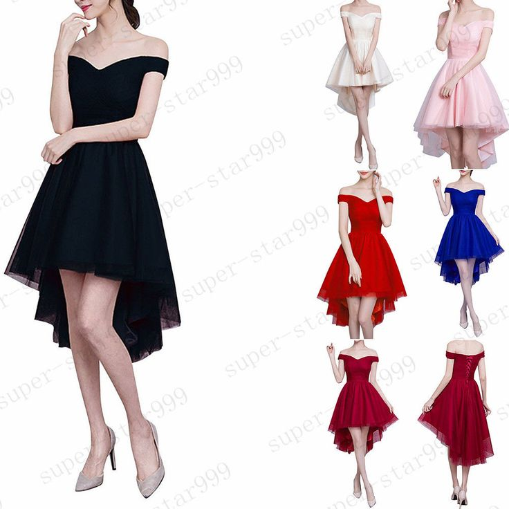 High Low Prom Bridesmaid Formal Gowns dresses for juniors Women Short Plus  Size #Unbranded