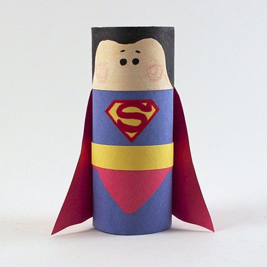 Make this fun Superman craft using a cardboard tube and construction paper! Free pattern included.
