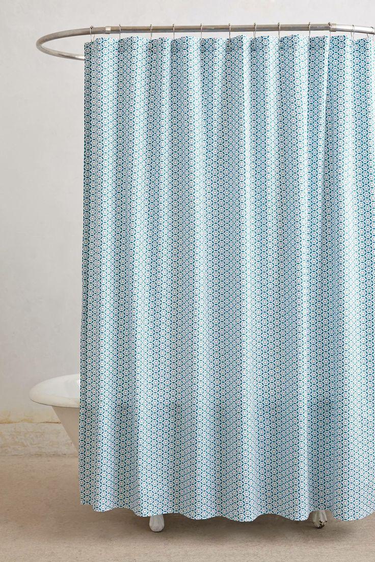Anthropologie floral shower curtain - Circle Round Shower Curtain