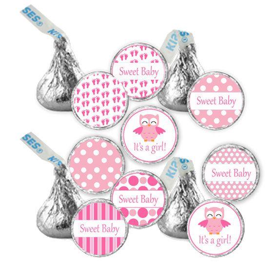 hershey kiss baby shower stickers