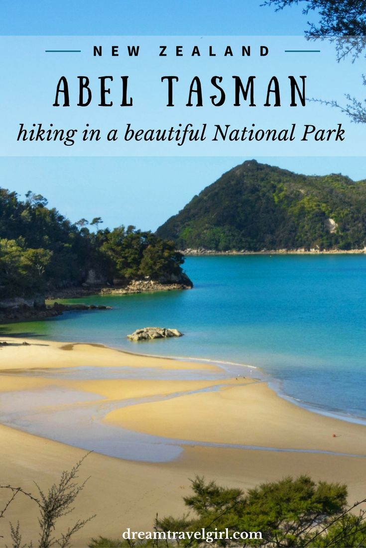 Abel Tasman National Park, New Zealand. A perfect combination of forest and beaches, a pleasant place for hiking. >> More information on the blog post
