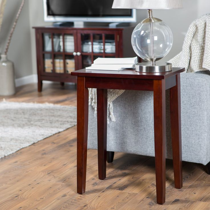 Have to have it. Turner Chair Side Table - Espresso - $49.98 @hayneedle.com