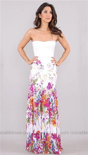 c7f83dcadf2d Sky White Kenia Floral Long Dress | Dress Up | Dresses, Fashion, Fashion  outfits