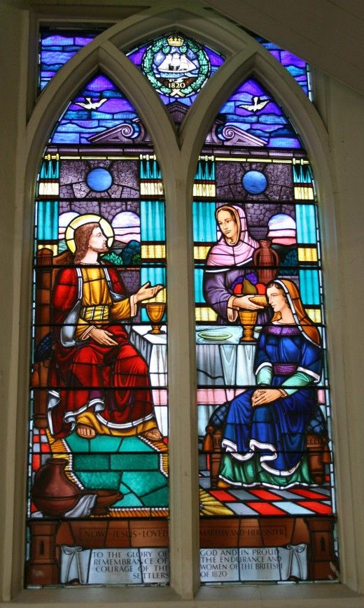 The Commemoration Methodist Cathedral, Grahamstown, South Africa One of several Stained Glass Windows