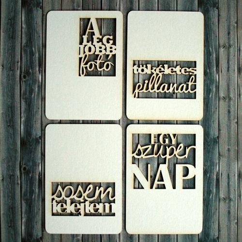 NőiCsizma | Fotós témájú feliratos chipboard kártyák