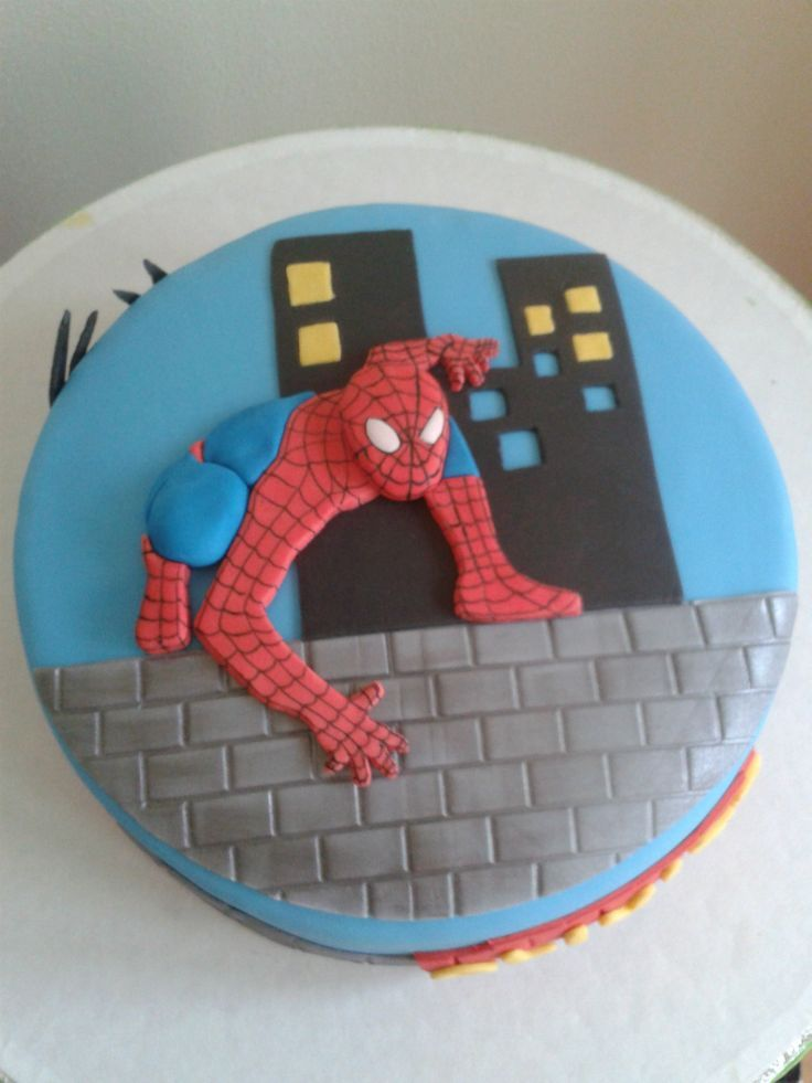 spiderman cake Taart foto`s - www.hetboltaartje.nl - visit to grab an unforgettable cool 3D Super Hero T-Shirt!