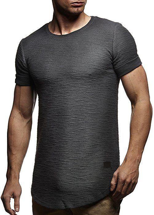 6c0c1531236e LEIF NELSON Herren T-Shirt Hoodie Pullover Longsleeve Sweatshirt Hoodie  Rundhals Ausschnitt LN6324  Größe
