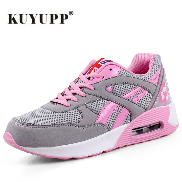 KUYUPP Women's Sports Shoes Sneakers Lace-Up Women's Running Shoes Size 35-40 Outdoor Athletic Women Trainers Sapatos 2017 B39