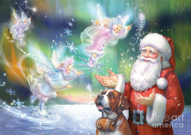 Zorina Baldescu Digital Art - Winter Fairies by Zorina Baldescu